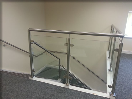 Feature Glass Balustrade